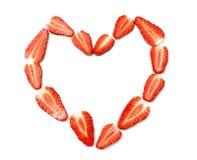 Coeur effectué à partir des fraises Photos libres de droits