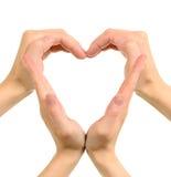 Coeur effectué à partir des mains Image libre de droits