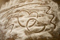 Coeur effectué à partir du sucre Photos libres de droits