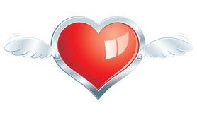 Coeur en acier à ailes Photo libre de droits