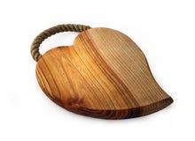 Coeur en bois Photo libre de droits