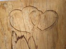 Coeur en bois photos libres de droits