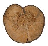 Coeur en bois. Photo libre de droits