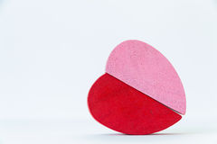 Coeur en bois image stock