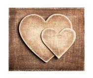 Coeur en bois image libre de droits