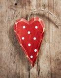Coeur en bois de décoration de Noël Photos stock