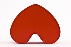 Coeur en bois rouge Images libres de droits