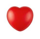 Coeur en caoutchouc rouge Photographie stock