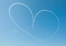 Coeur en ciel Photo stock