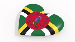 Coeur en couleurs et des symboles de la Dominique, boucle illustration libre de droits