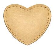 Coeur en cuir Photo libre de droits