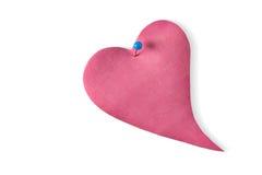 Coeur en cuir rose Photographie stock libre de droits