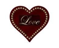 Coeur en cuir rouge Image libre de droits