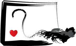 Coeur en danger illustration stock