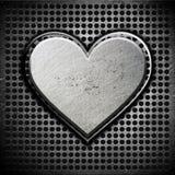 Coeur en métal photos stock