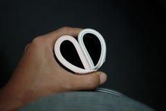 Coeur en main Images libres de droits