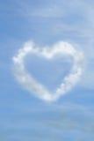 Coeur en nuages Images libres de droits
