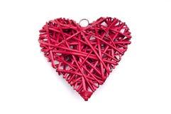 Coeur en osier rouge Image libre de droits