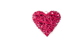 Coeur en osier rouge Photographie stock