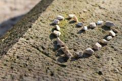 Coeur en pierre 1 Photos libres de droits