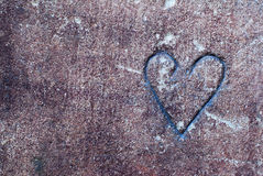 Coeur en pierre image stock