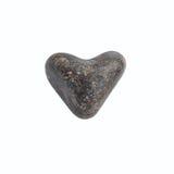 Coeur en pierre de mer Photos libres de droits