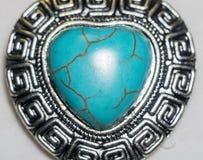 Coeur en pierre de turquoise Images libres de droits