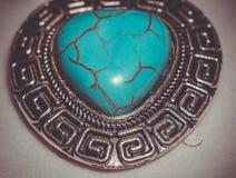 Coeur en pierre de turquoise Image stock