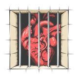 Coeur en prison illustration de vecteur