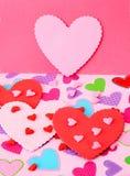 coeur en rouge et le rose Image stock
