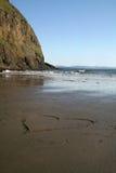 Coeur en sable Photo libre de droits