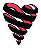 Coeur en spirale Images libres de droits