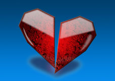 Coeur en verre photo stock