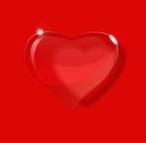 Coeur en verre. Photo stock