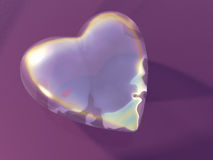 Coeur en verre Photographie stock