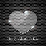 Coeur en verre Photo libre de droits