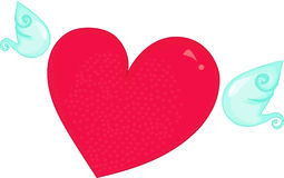 Coeur en verre Photos libres de droits