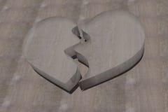 Coeur en verre cassé Photo libre de droits