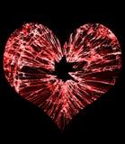 Coeur en verre cassé Photographie stock libre de droits
