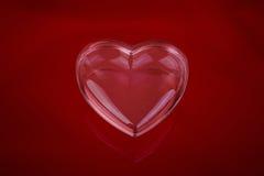 Coeur en verre d'amour Images stock