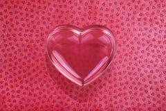 Coeur en verre d'amour Photographie stock