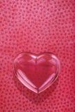 Coeur en verre d'amour Photo libre de droits
