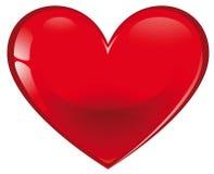 Coeur en verre rouge illustration libre de droits