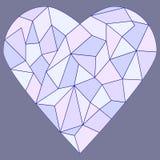 Coeur en verre souillé Photos stock