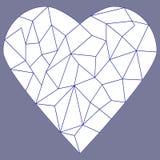 Coeur en verre souillé Images libres de droits