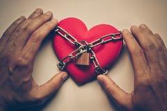 Coeur enchaîné Photo libre de droits