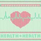 Coeur EPS10 tricoté par rouge Illustration Stock