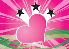 Coeur et étoiles illustration stock