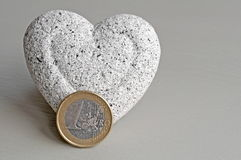 Coeur et argent Photographie stock