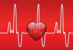 Coeur et battement de coeur illustration stock